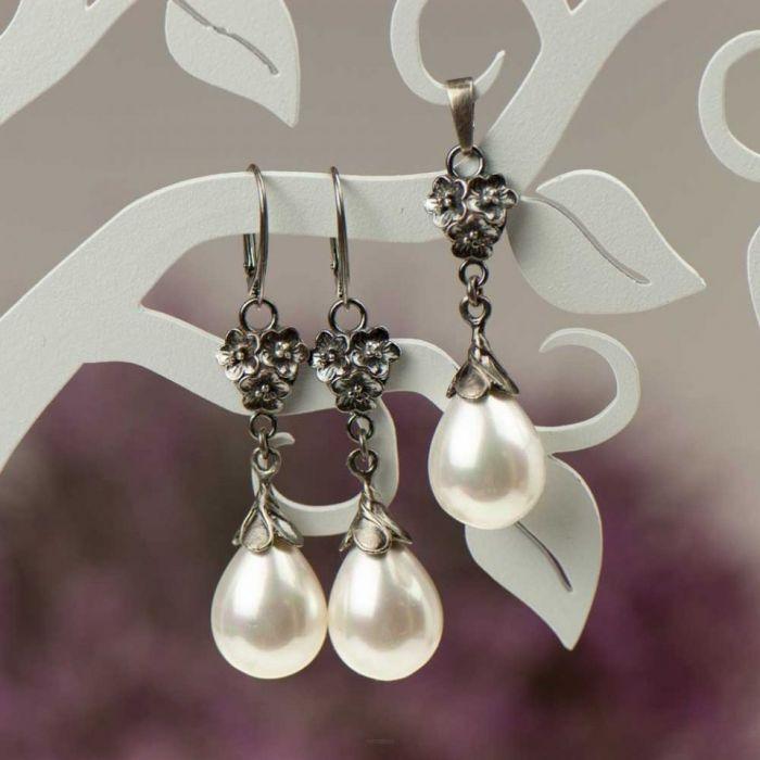 Komplet Emma z perłami Seashell a796-klp