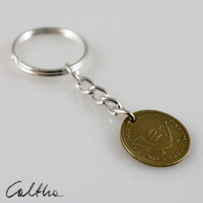 Żeton A - breloczek moneta - Breloczek moneta