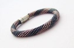 Bransoletka wąż kolor hematytu - fiolet