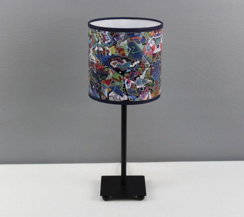 """Lampa nocna stojąca z obrazu """"eMOTOGEN"""" S - Wysokość lampy z abażurem - 38cm."""