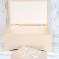 Kufer ślubny na życzenia gości LATTE ORNAMENT