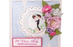 kartka ślubna z grafiką #001
