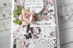 Ślubna kartka pełna róż v.2