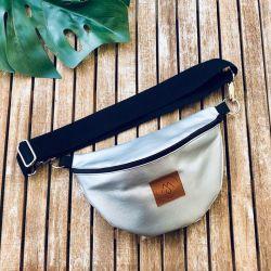 Nerka Mili Belt Bag L - srebrna