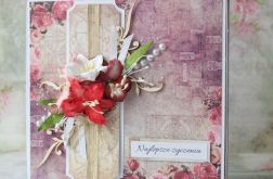 Pudełko + kartka urodziny, rocznica, ślub