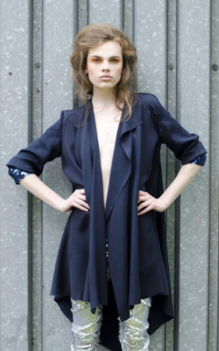 Granatowy płaszcz oversize / Navy jacket oversize