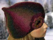 beret/ czapka  z różą 8
