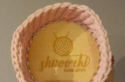 Koszyk na drobiazgi ze sznurka Jasny Róż