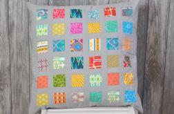 Duża pixelowa nowoczesna poduszka patchwork