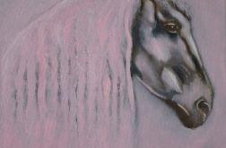 Obraz olejny Pink Horse