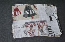 Podkładki pod talerze - gazety o modzie - 4 sztuki