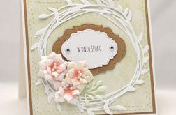 Kartka ślubna z wiankiem KS18010