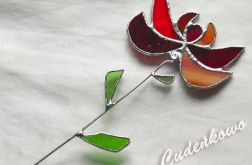Kwiat Czerwień I I- technika Tiffany'ego