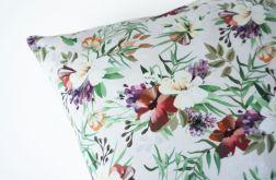 Poszewka dresowa - kwiaty tropikalne