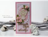Kartka z okazji Chrztu dziewczynki