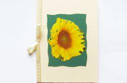 Kartka z kokardką i z słonecznikiem nr4