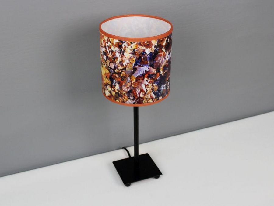 """Lampa w jesienne liście """"Colours of autumn"""" S - Wysokość lampy z abażurem - 38cm."""