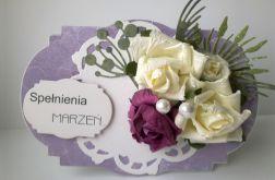 Kartka z bukietem kwiatów