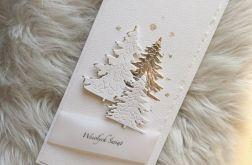 Kartka Bożonarodzeniowa gesso silver