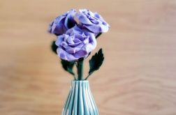 Bukiet róż z filcu (fioletowy)