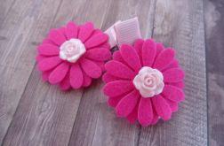 Nomma Spinki do włosów kwiatki różyczki:)