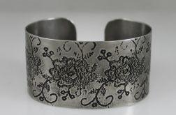Metalowa bransoleta - Kwiaty 171202-02