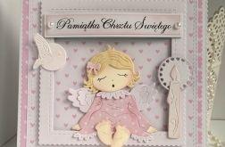 Kartka - Chrzest z aniołkiem