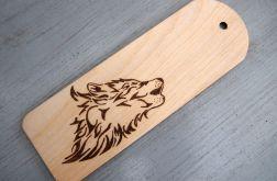 zakładka wypalana z wilkiem