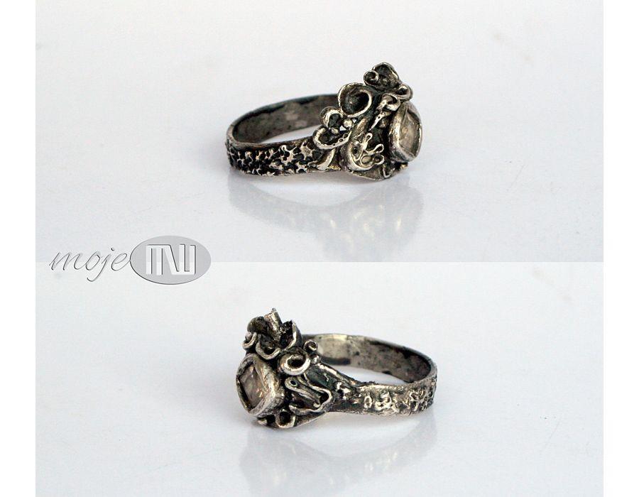 Strojny - pierścionek z cyrkonią
