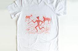 rozmiar L biała koszulka  Hunting