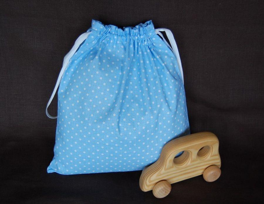 Mały futbolista w kropeczkach - worek na kapcie/strój
