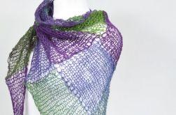 chusta - odcienie fioletów i zieleni