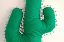 Poduszka kaktus z pomponami