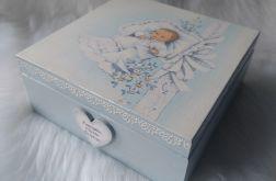 szkatułka - pamiątka Chrztu Św. dla chłopca