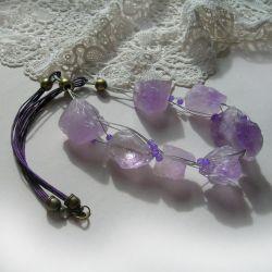Fluoryt fioletowy - naszyjnik