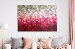 Obraz abstrakcyjny ręcznie malowany 80x120 Love Story II
