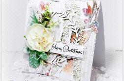 Kartka świąteczna śnieżne pastele 2