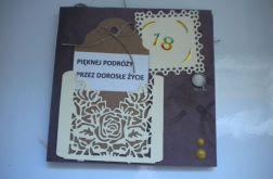 Kartka - męska portfel na 18 - nastkę