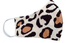 Profilowana maseczka bawełniana PANTERKA beż