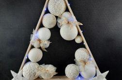 Drewniana choinka w bieli hand made