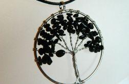 Drzewo z onyksami, wisior, wire wrapping