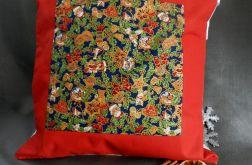 Patchworkowa poduszka czerwona
