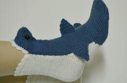 Rekiny skarpetki - kolor gołębi i krem
