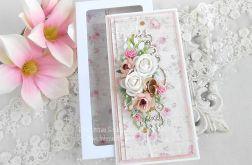 Ślubna kartka DL w pudełku 156