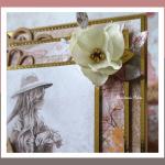 Kartka Bajka wz 2 urodziny - kartka kwiatek z foamiranu
