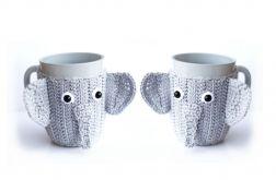 2 Kubki w ocieplaczu. Słonie