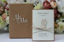 Rustykalna kartka ślubna z personalizacją 3