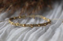 Relva bransoletka złota z kulkami