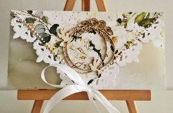Kartka ślubna kopertówka floral