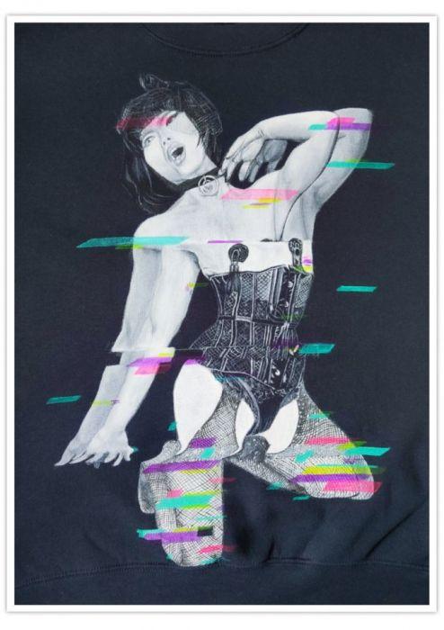 Ręcznie malowana bluza drag queen Betty Fvck -
